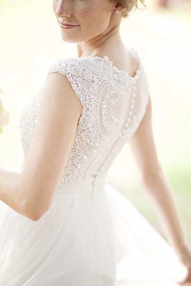 Stunning Julia Ferrandi Wedding Dress | Real Wedding at Collisheen Estate