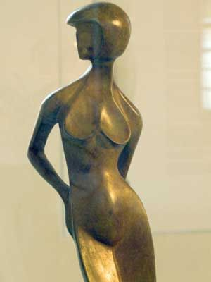 Standing Concave by Alexander Archipenko. Bronze and stone. 1925
