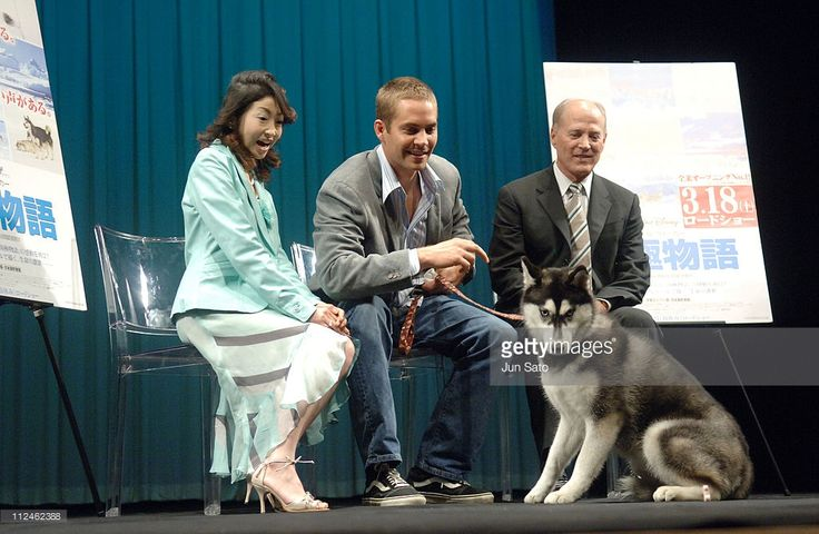 Keiko Oginome, Paul Walker and Frank Marshall during 'Eight Below' Special Preview in Tokyo at Iino Hall in Tokyo, Japan.