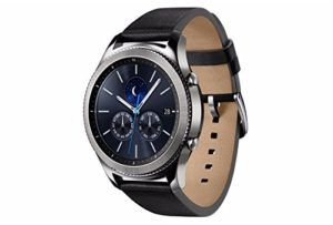 The Samsung Gear S3 has an always-on watch face and distinctive steel bezel that you can rotate to access apps and notifications.     Text, call and get notifications directly from your watch through your Bluetooth connected smartwatch.     Make payments with Samsung Pay almost anywhere you swipe or tap a credit card     The built-in GPS keeps track of your activity and makes it easy to share your location.     With military-grade performance, the Gear S3 resists water, dust, extreme temper
