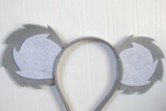 Koala Ears Headband by PlaytimeProps on Etsy, $10.00