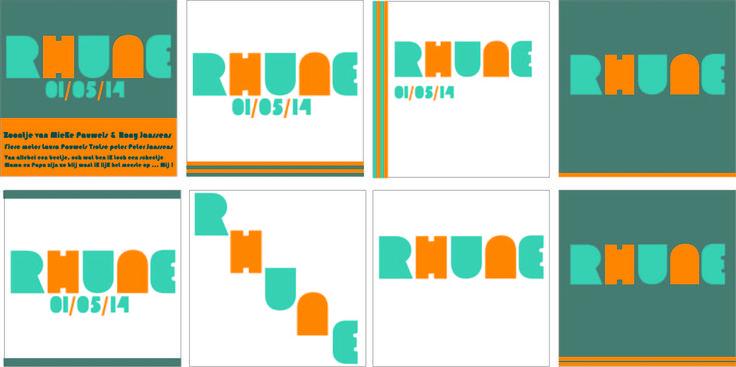 Eerste ontwerp schetsen Rhune typografisch