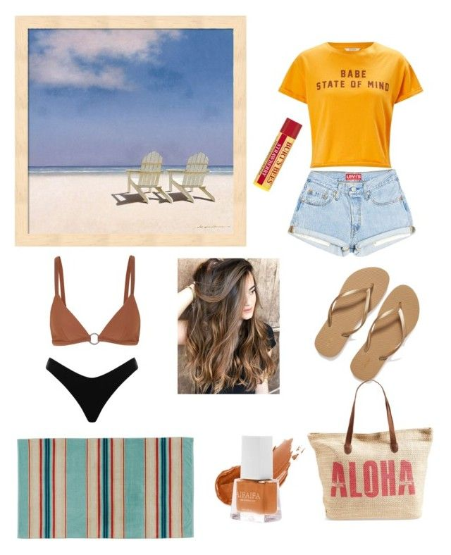 """""""Beach day"""" by isagdvv ❤ liked on Polyvore featuring Miss Selfridge, Old Navy, Matteau, Zimmermann, Pendleton, Rip Curl and Burt's Bees"""