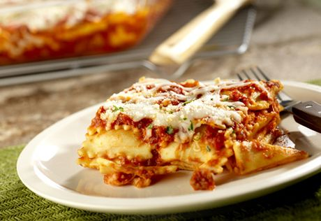 How smart...using ravioli as the base for this lasagna saves a lot of time, but doesn't sacrifice a bit of flavor. It's easy and delicious!