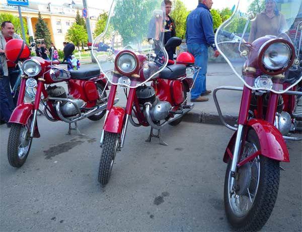 старые мотоциклы Ява