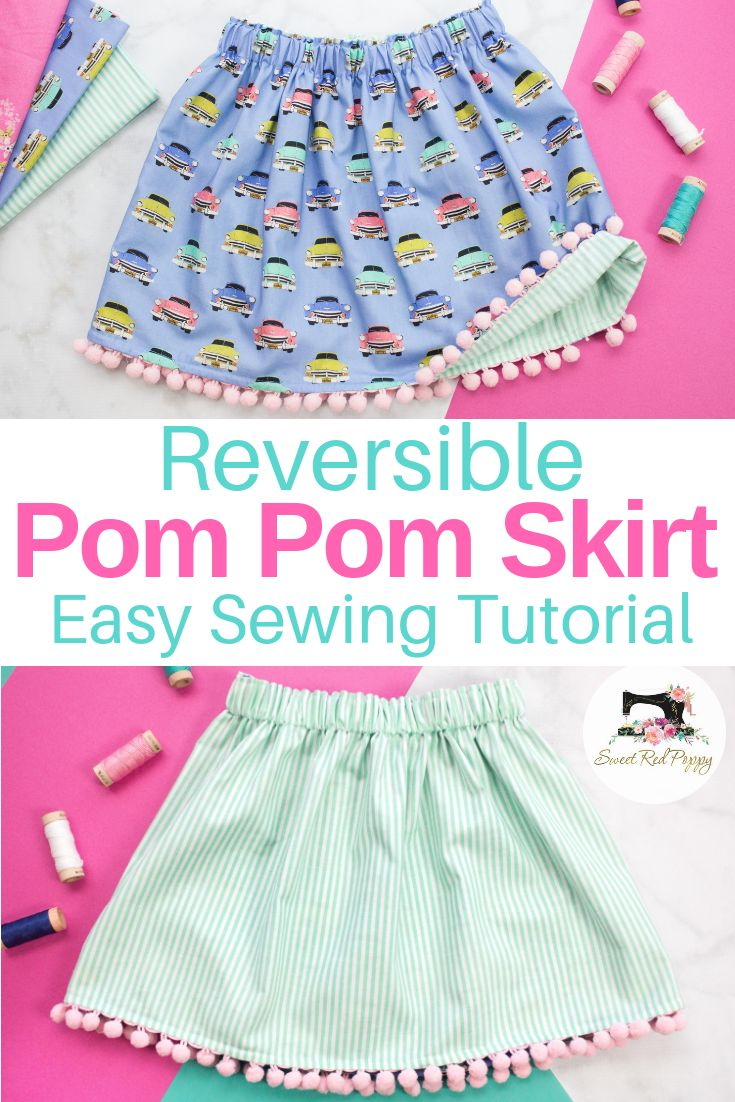 Easy Beginner-Friendly Reversible Girls'​ Skirt Sewing Tutorial