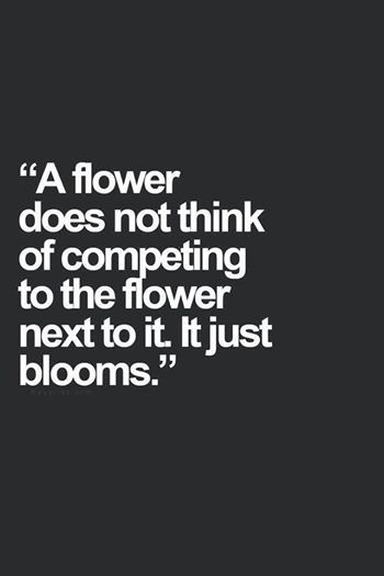 flowers don't compete