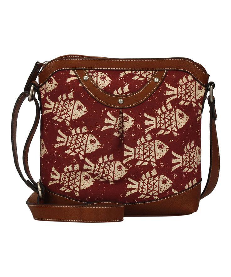 Garnet Fish Solana Crossbody Bag by b.o.c #zulily #zulilyfinds