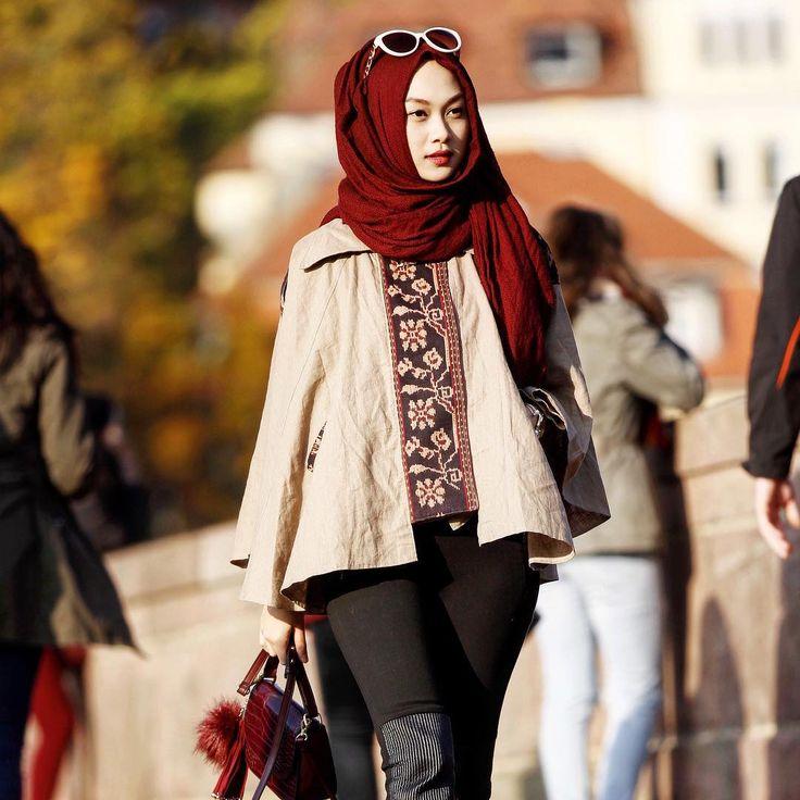 """Current colour mood : autumn shades . • • I spam my feed with lotsa maroon, but I love it~   indah nada puspita"