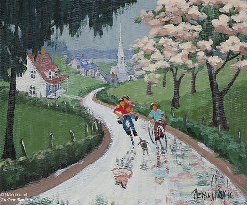 Rémi Clark, 'Chansonnette de pluie', 10'' x 12''   Galerie d'art - Au P'tit Bonheur - Art Gallery