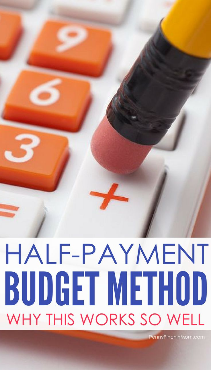How to create a budget with the half-payment budget method    budgeting for beginners | how to budget | budget DIY | budget basics | budget 101 | Saving Money | Money Management | Budget Methods via @PennyPinchinMom