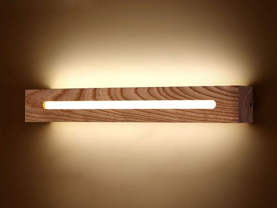 Lámparas LED de pared madera y acrílico por StarlightWorkshop