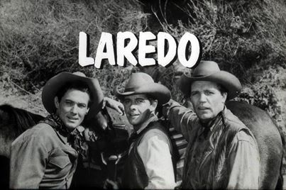 An interstitial slide from the TV show Laredo - anyone recall this TV western? It was filled with lots of character actors in guest spots. It ran from' 65 to '67. Neville Brand, Peter Brown, William Smith, Philip Carey were all 'stars' on this TV show.