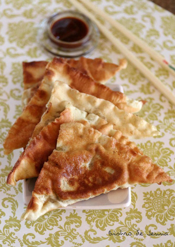 Raviolis chinois frits-poulet et crevettes