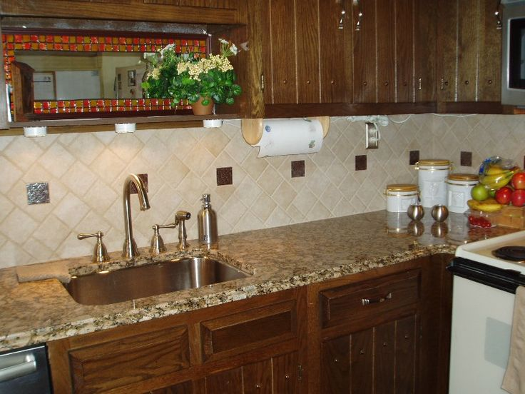 bright orange tile backsplash - photo #22