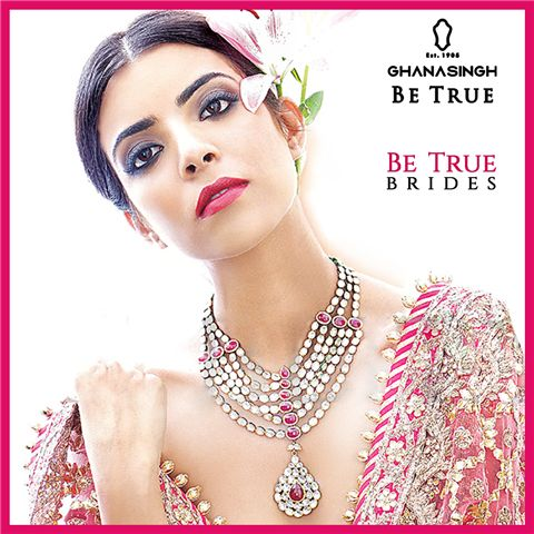 Layered Necklaces: #BeTrueBrides take on the latest trends of harmonizing layered necklaces adding the oomph to their D DAY.