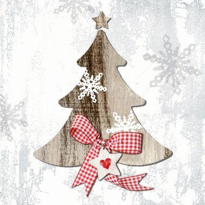 3742 Servilleta decorada Navidad