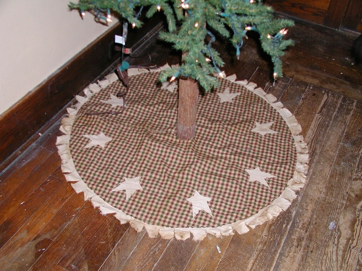 Primitive Homespun Christmas Tree Skirt
