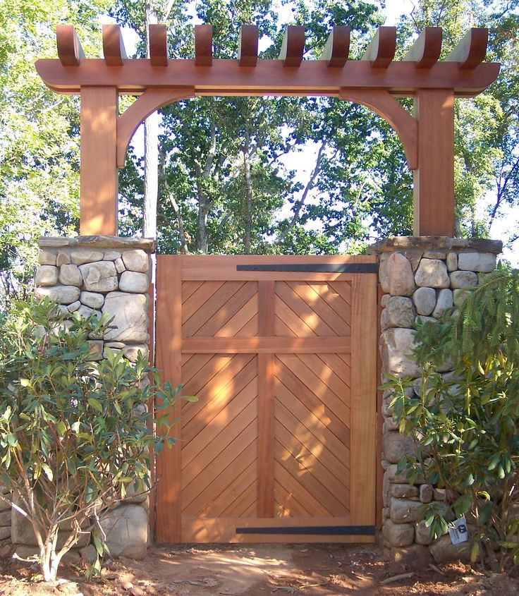 13 best design ideas fence posts images on pinterest for Garden gate designs wood