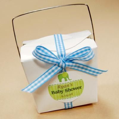 DIY Chinese Baby Shower Takeout Boxes Favor