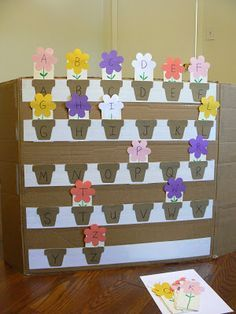 An adorable Spring-themed letter matching game, perfect for building letter recognition!
