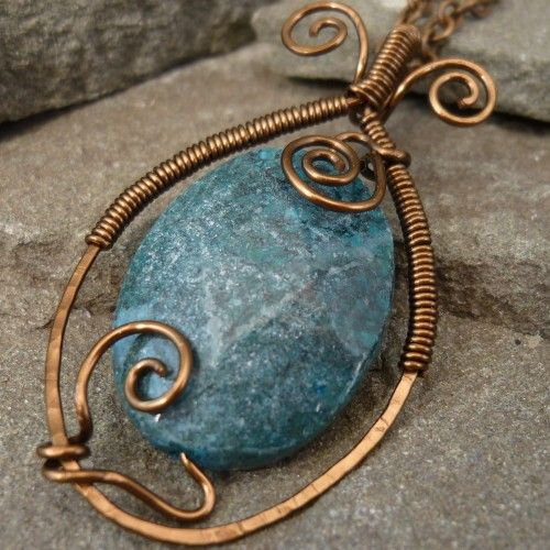 143 best images about wire wrapped caged beads on for Hammered copper jewelry tutorial
