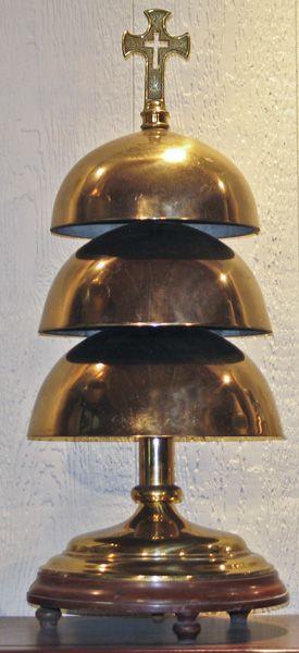 """3 tier bronze altar gong set 26"""" tall $850"""