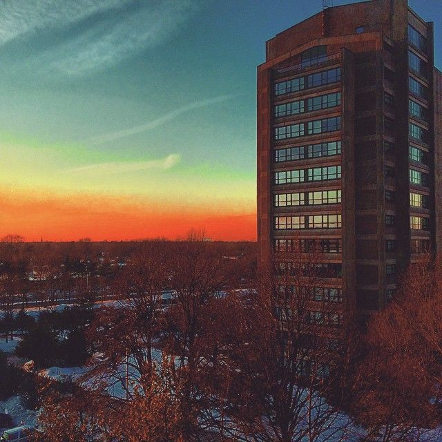 """I had a good view from my window this weekend. #longisland #hofstra #sunset #winter #myview"""