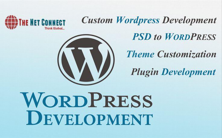 The Net Connect leading WordPress development company provides high quality WordPress development services including PSD to WordPress Development, Theme Customization, Template Design and Development services.