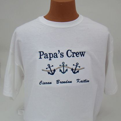 Perfect to wear on a boat or cruise. This shirt can use any title you wish...Dad, Grandpa, Poppy, Pop Pop Perfect Father's Day or Birthday Gift!