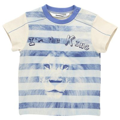 SS13 3 Pommes - Beige and blue striped T-shirt - 29001