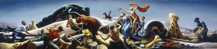 Achelous and Hercules,1947 by Thomas Hart Benton. Used to hang in a department store in Kansas City.