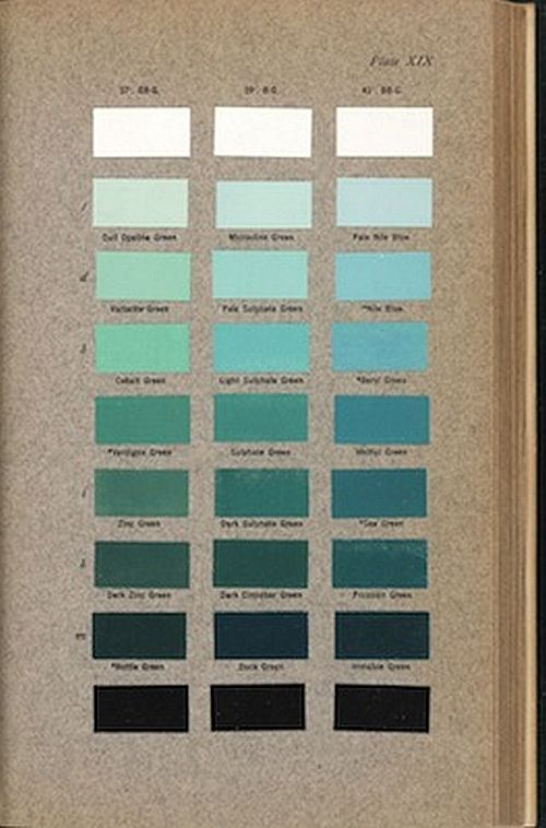 Robert Ridgway (1850–1929), Color Standards and Color Nomenclature, 1912. Cerulean blue. Copyright The Huntington Library, Art Collections, and Botanical Gardens. Plate XIX.