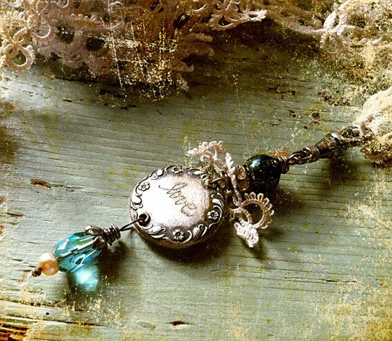 i'm in love with this love pendant by my friend nina bagley...what a talent!