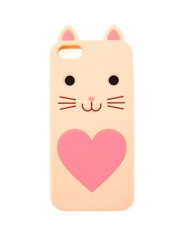 Bershka Italia - Cover cellulare in gomma con gatto