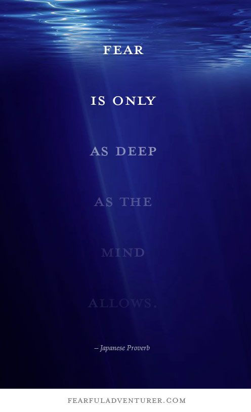 """Fear is only as deep as the mind allows."" – Japanese Proverb"