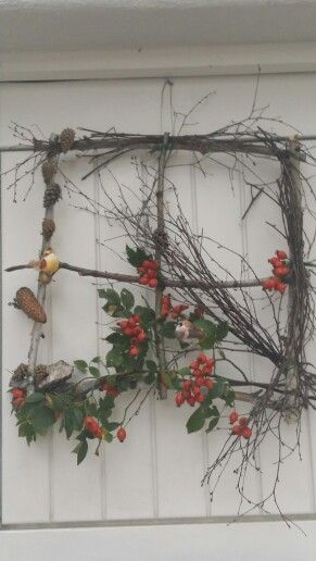 Herbstdeko Haustüre  selbst gemacht  Pinterest