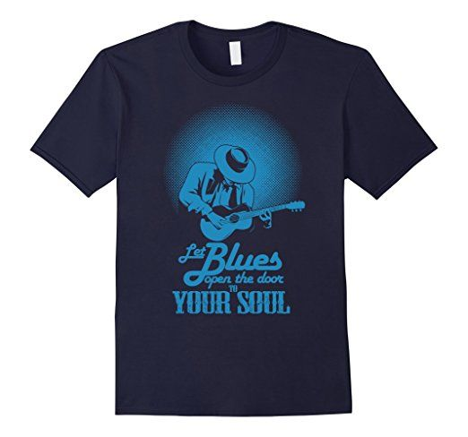 Amazon.com: let blues open the door to your soul tshirt: Clothing : bules mushic t shirt