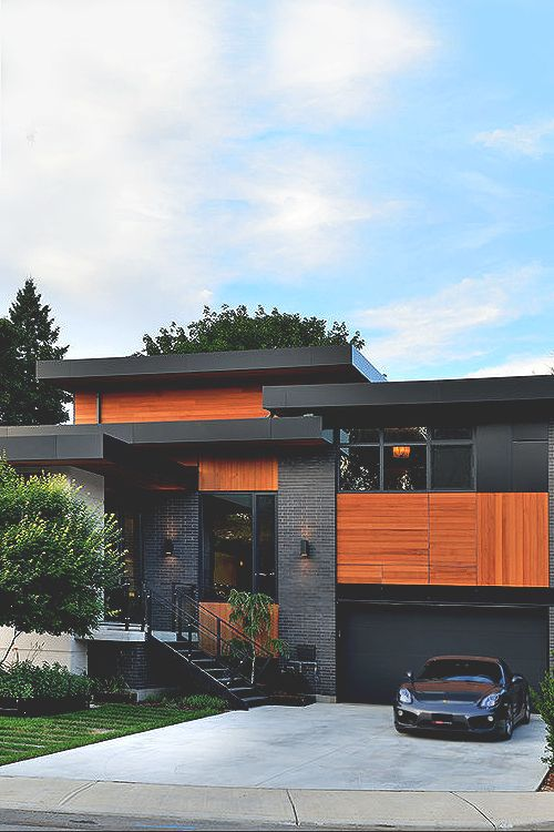 Like the eaves and mixed materials.