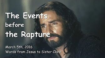 JESUS SPEAKS about War, Comet, Tsunamis & Rapture - The Order of Events - April 8th, 2016 - YouTube