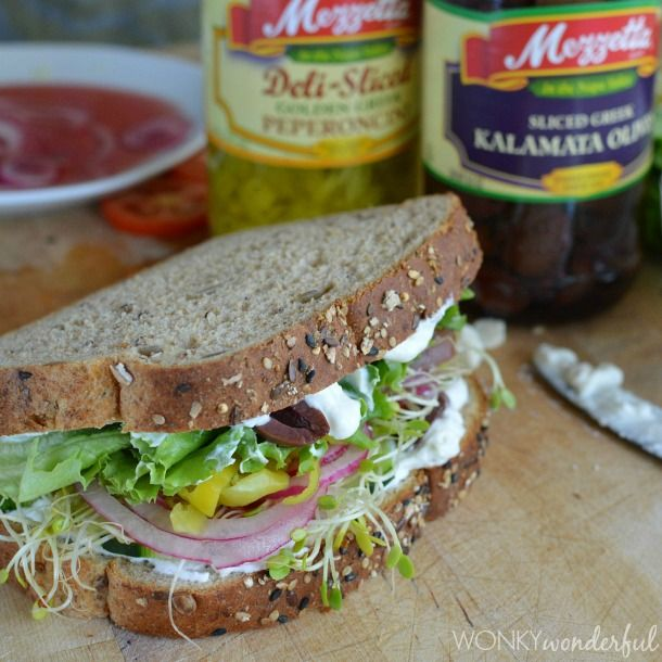 This Greek Vegetable Sandwich with Creamy Feta Spread is so satisfying and flavorful that you will not even miss the meat! Check out the photos...