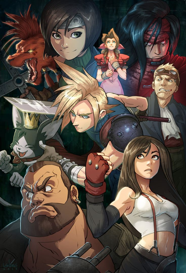 Final Fantasy 7 by Kendall Hale