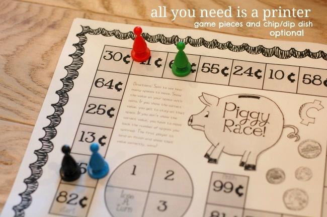 Piggy Race Game : Teaching Money Concepts