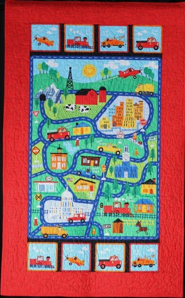 City Streets quilt by Carol Carpenter.  Quilt for a Cause.