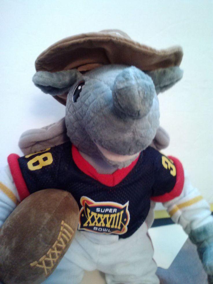 "Super Bowl XXXVIII 38 2004 Plush Armadillo Houston Texas NFL Stuffed Animal 16"" #NFL"