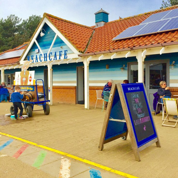 Wells next Sea beach cafe, great dog friendly cafe, delicous cake and lots for gluten free peeps too! They have a dog water bar, dog beds inside and lost of lovely staff (who all love dogs)