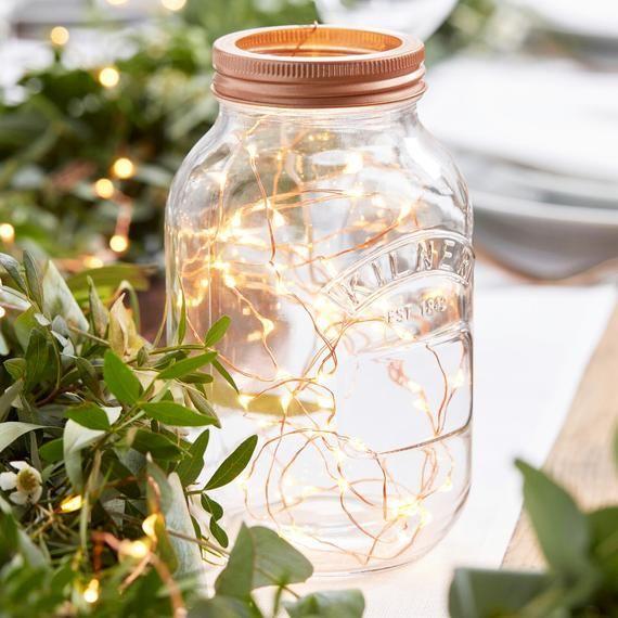 3m Lichterkette Deko Lichter Rosegold Lampe Wedding Centerpieces Wedding Decorations Rose Gold Wedding