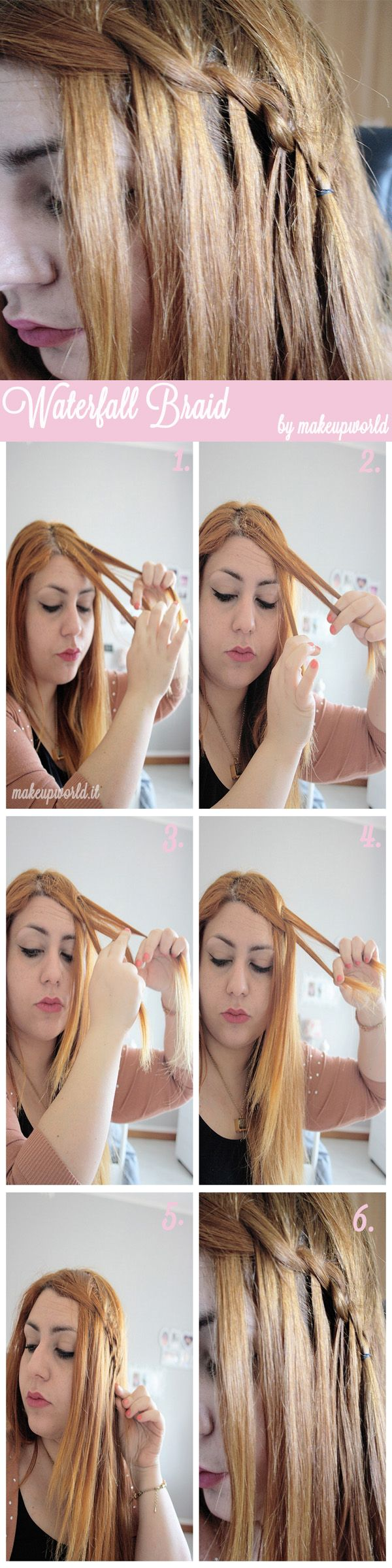 waterfall braid tutorial 1