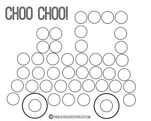 Free Train Do a Dot Printable