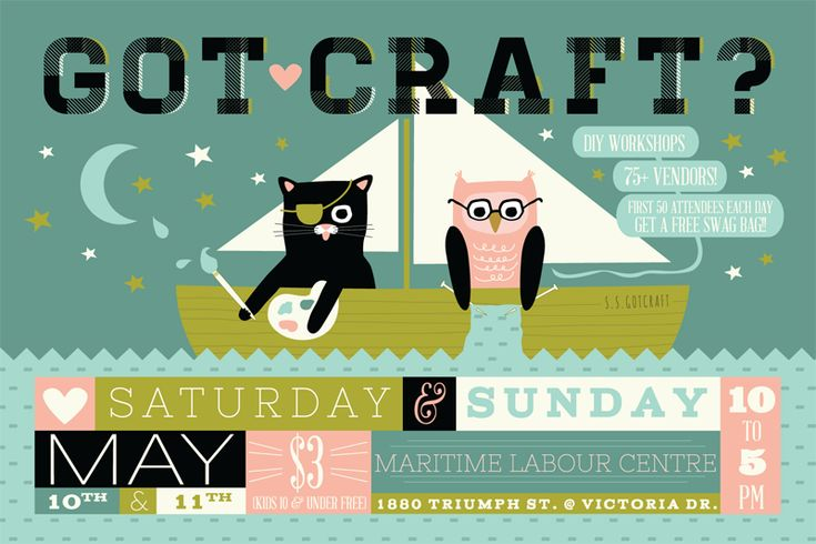 Got Craft? Spring 2014 Postcard in Vancouver (BC) | Design by The Beautiful Project